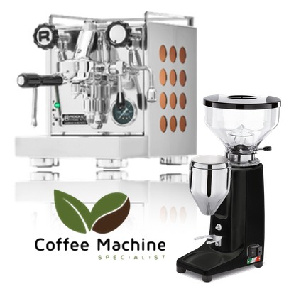 Rocket Appartamento & Quamar Q50 PUSH Doserless Grinder Package