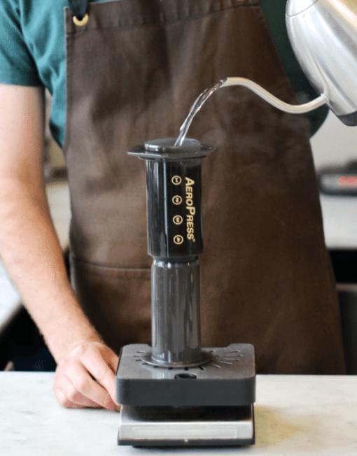aeropress coffee maker operation
